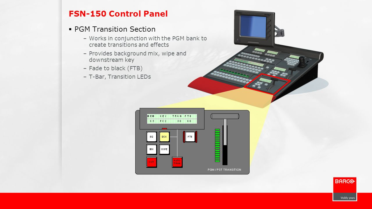 FSN-150 Control Panel PGM Transition Section