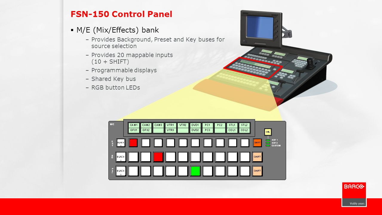 FSN-150 Control Panel M/E (Mix/Effects) bank