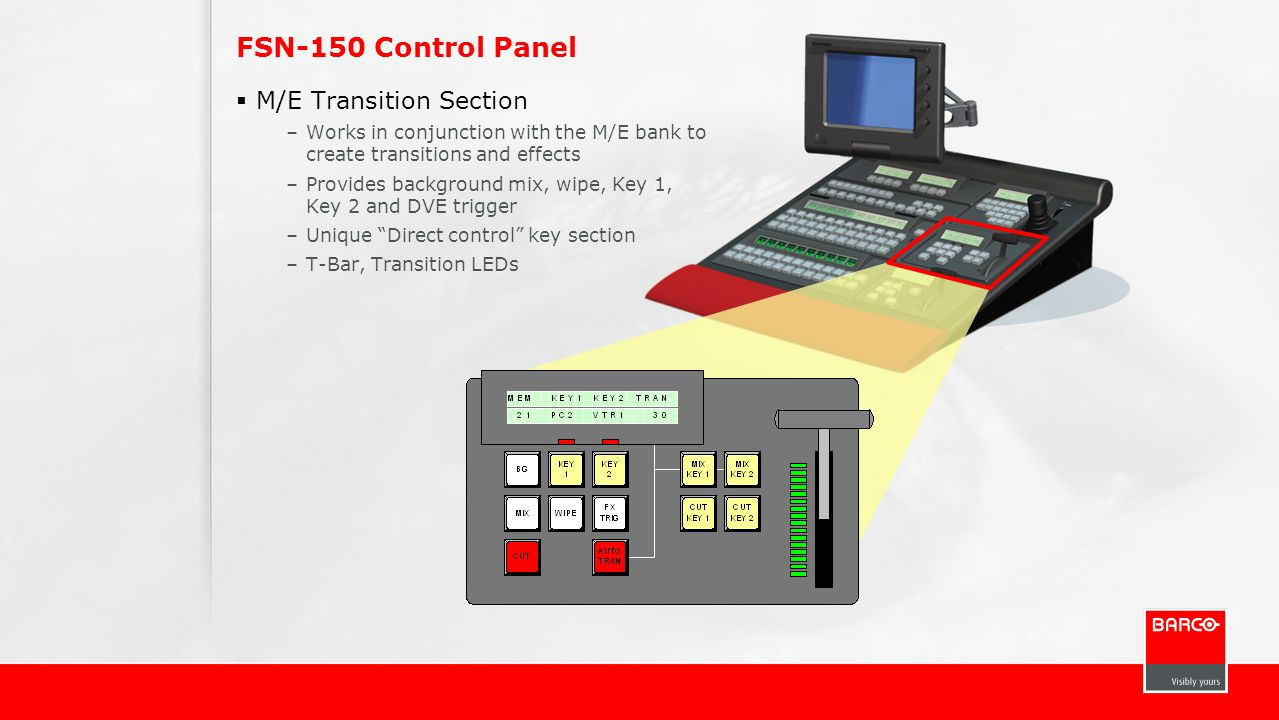 FSN-150 Control Panel M/E Transition Section