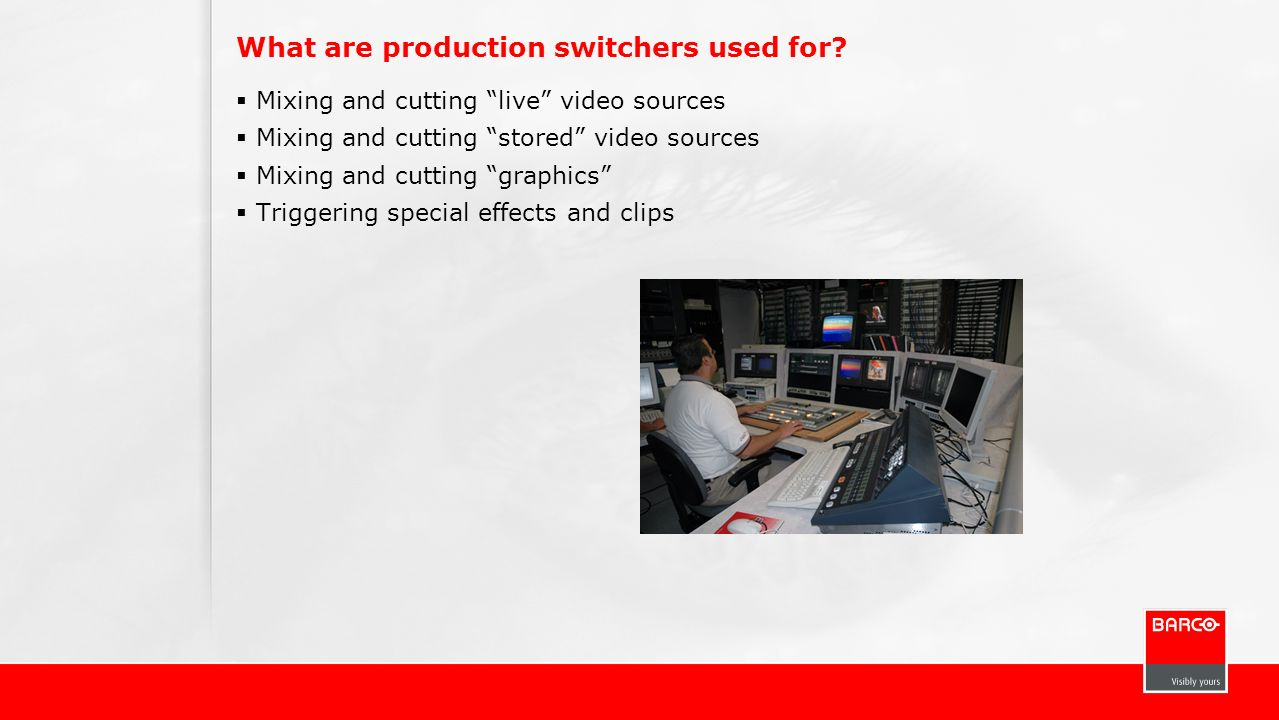 What are production switchers used for
