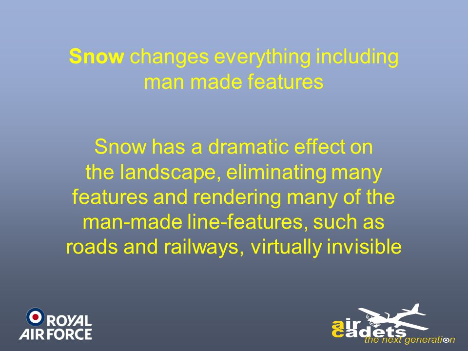 Snow changes everything including man made features