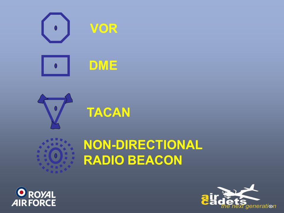 VOR DME TACAN NON-DIRECTIONAL RADIO BEACON