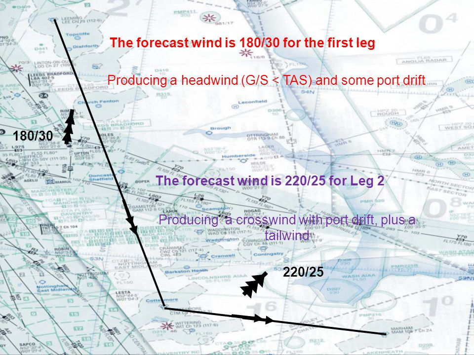 The forecast wind is 220/25 for Leg 2