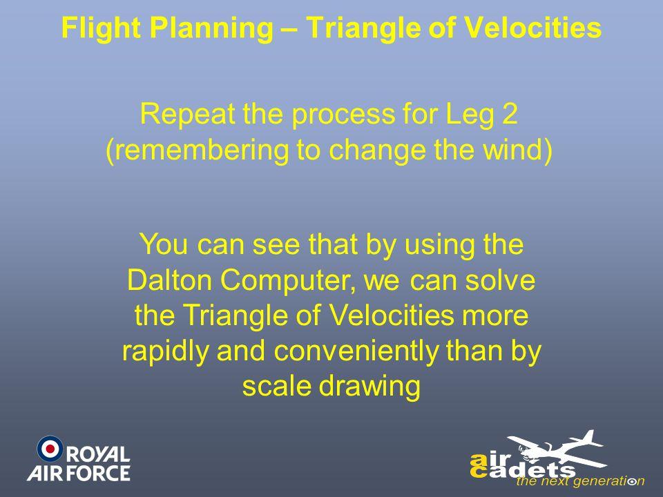 Flight Planning – Triangle of Velocities