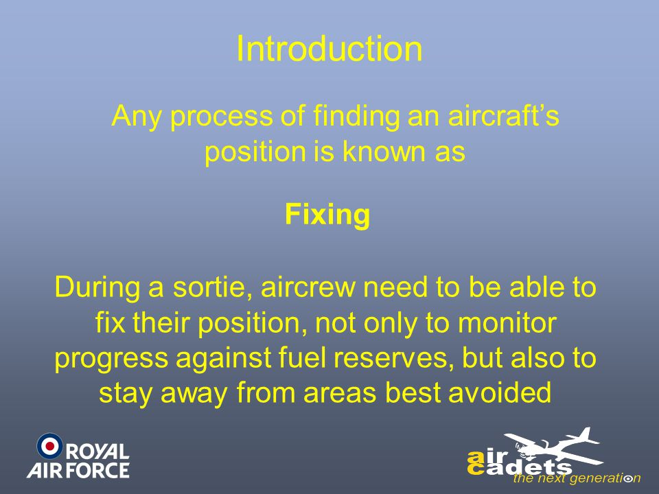 Any process of finding an aircraft's position is known as