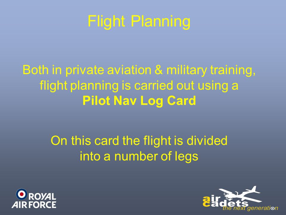 On this card the flight is divided into a number of legs