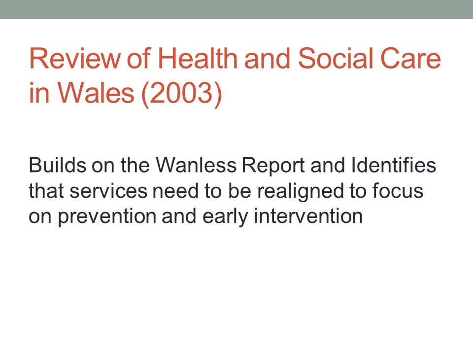 Review of Health and Social Care in Wales (2003)