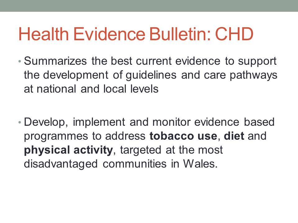 Health Evidence Bulletin: CHD