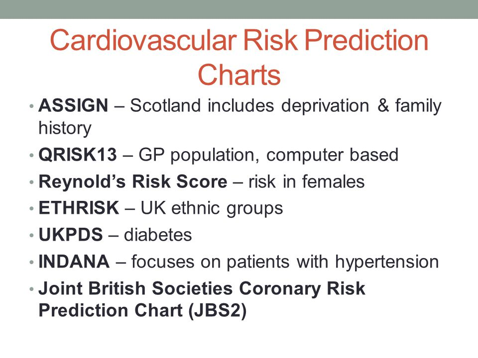 Cardiovascular Risk Prediction Charts