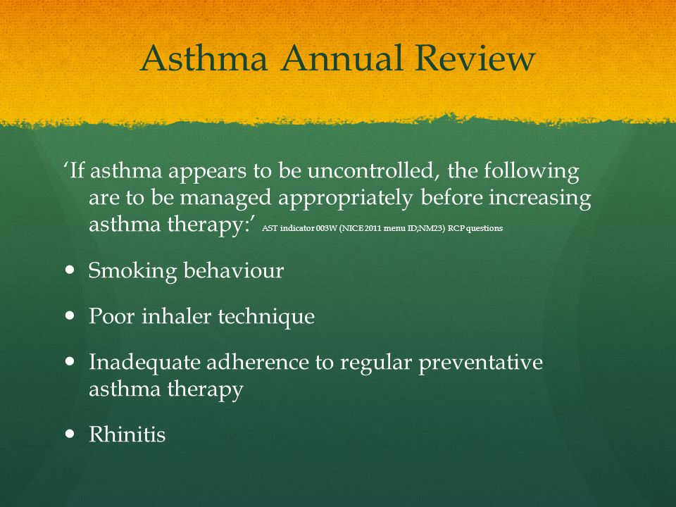 Asthma Annual Review