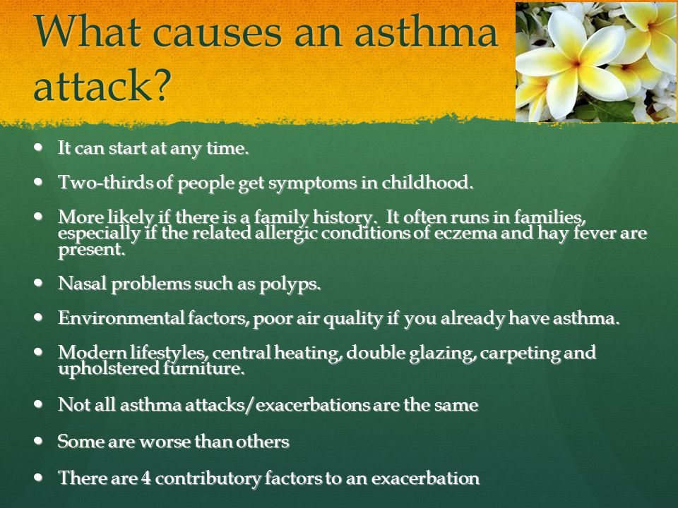 What causes an asthma attack