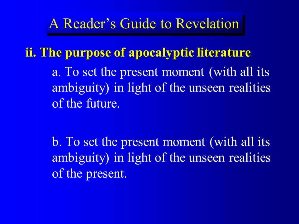 A Reader's Guide to Revelation