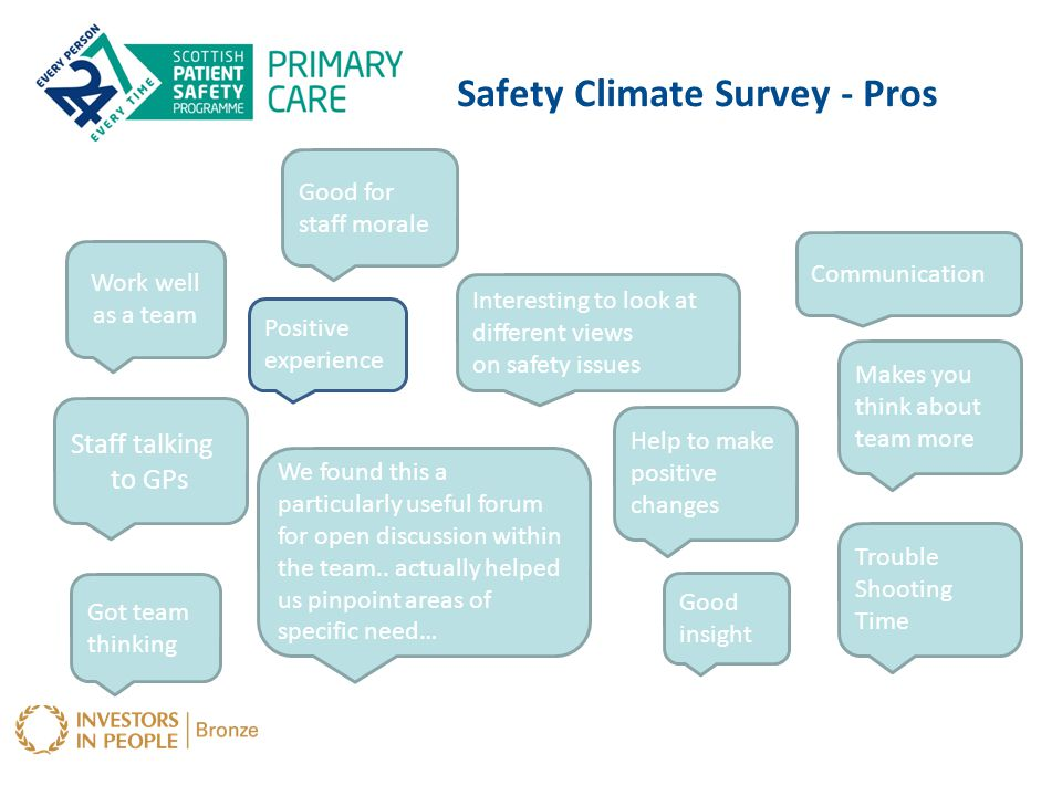 Safety Climate Survey - Pros