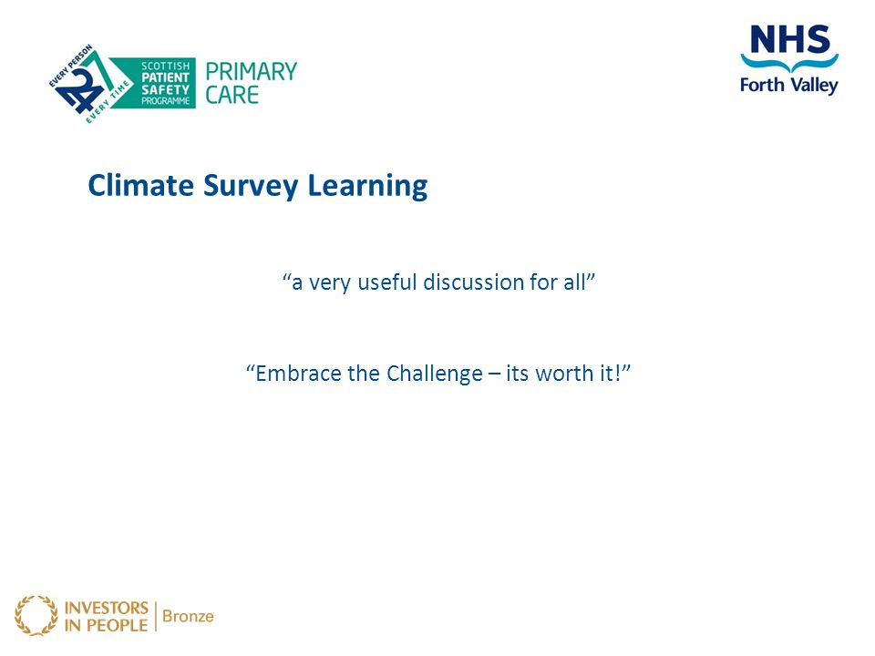 Climate Survey Learning