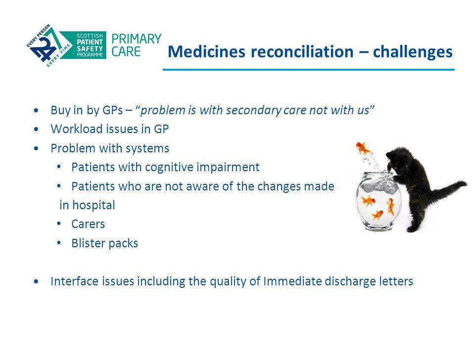 Medicines reconciliation – challenges