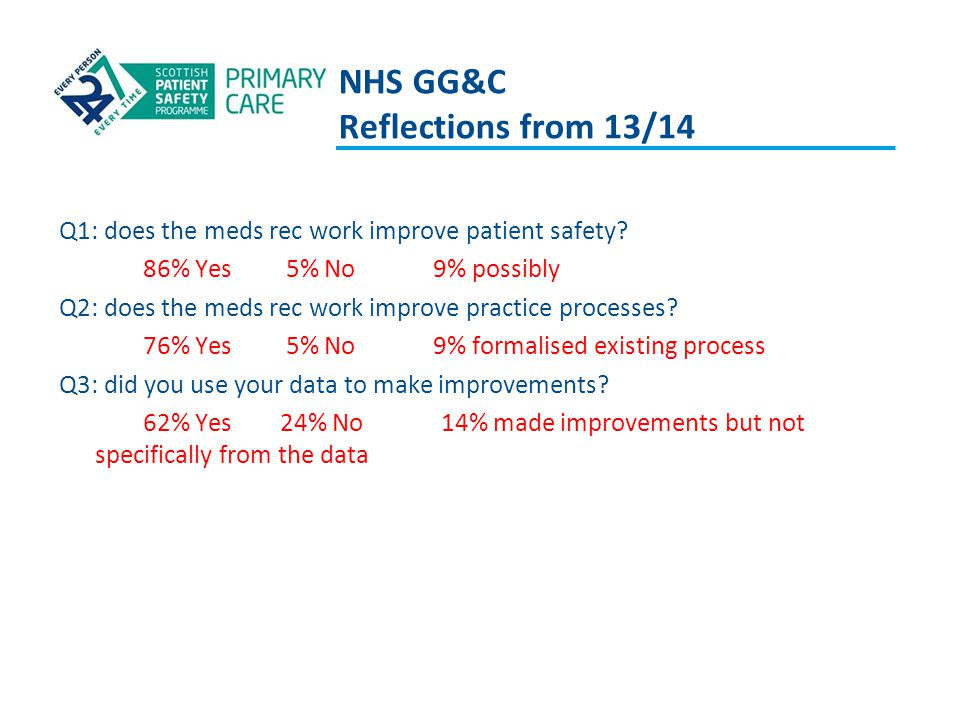 NHS GG&C Reflections from 13/14