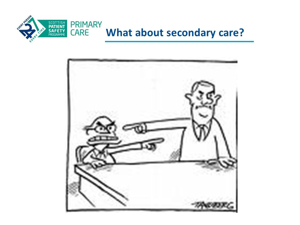 What about secondary care