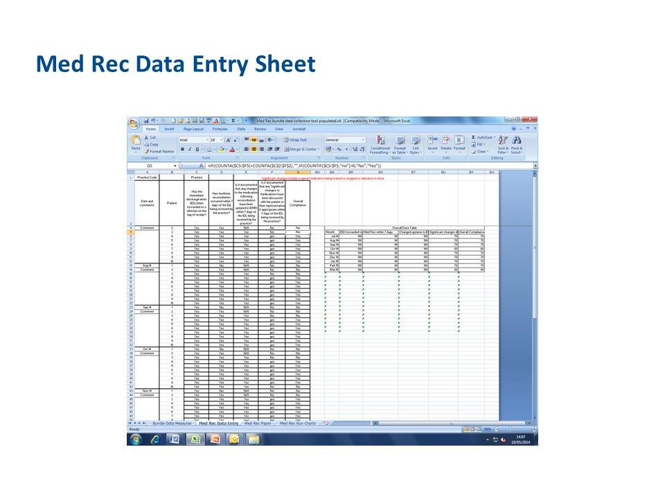 Med Rec Data Entry Sheet