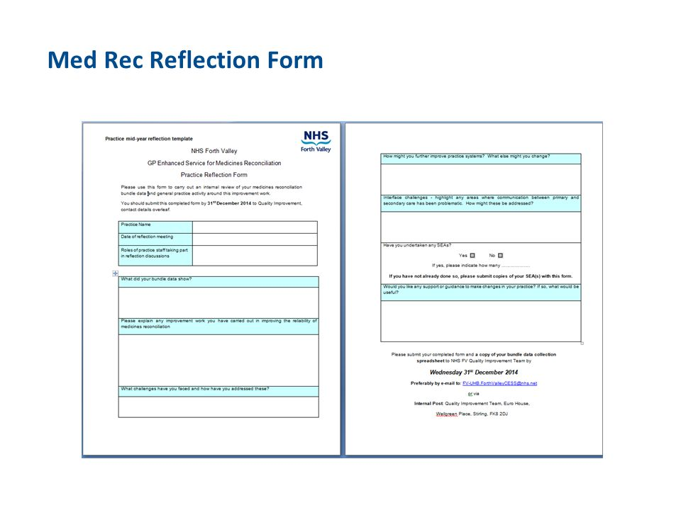 Med Rec Reflection Form