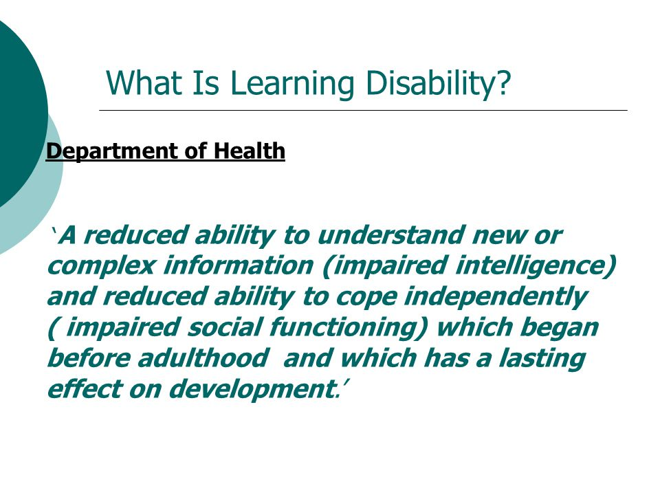 What Is Learning Disability