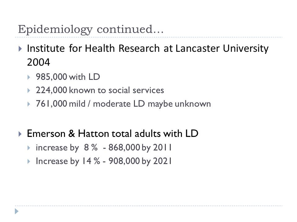 Epidemiology continued…