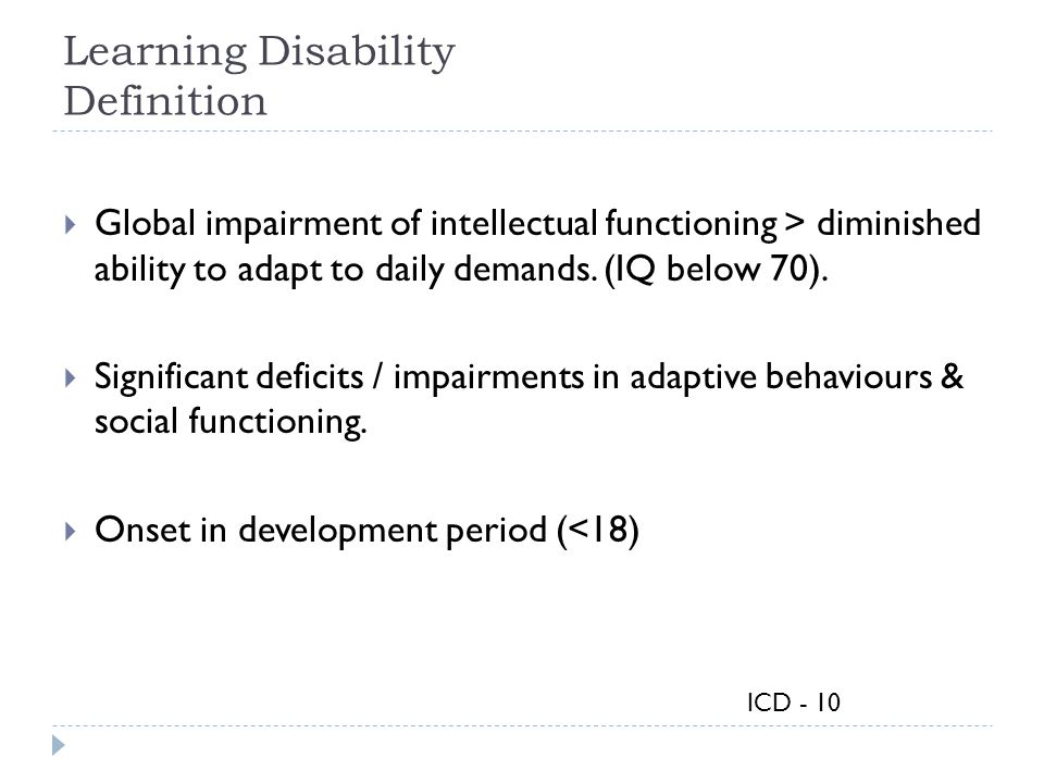 Learning Disability Definition