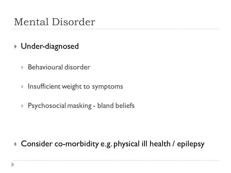 Mental Disorder Under-diagnosed