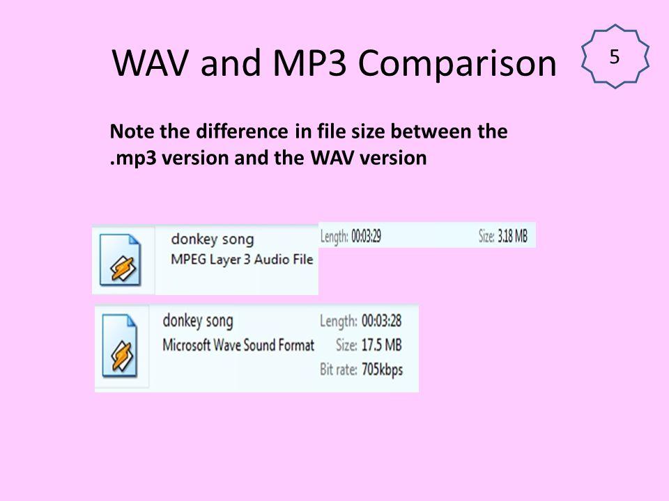 WAV and MP3 Comparison 5.