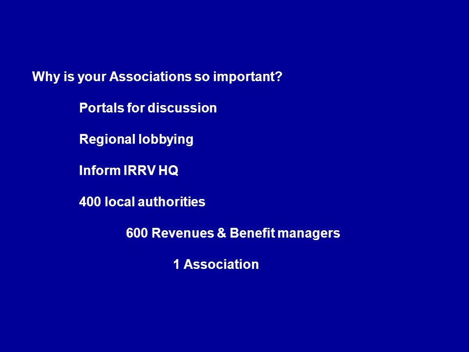 Why is your Associations so important. Portals for discussion