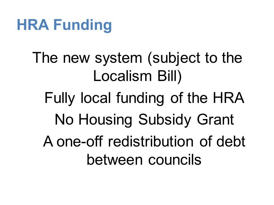 HRA Funding