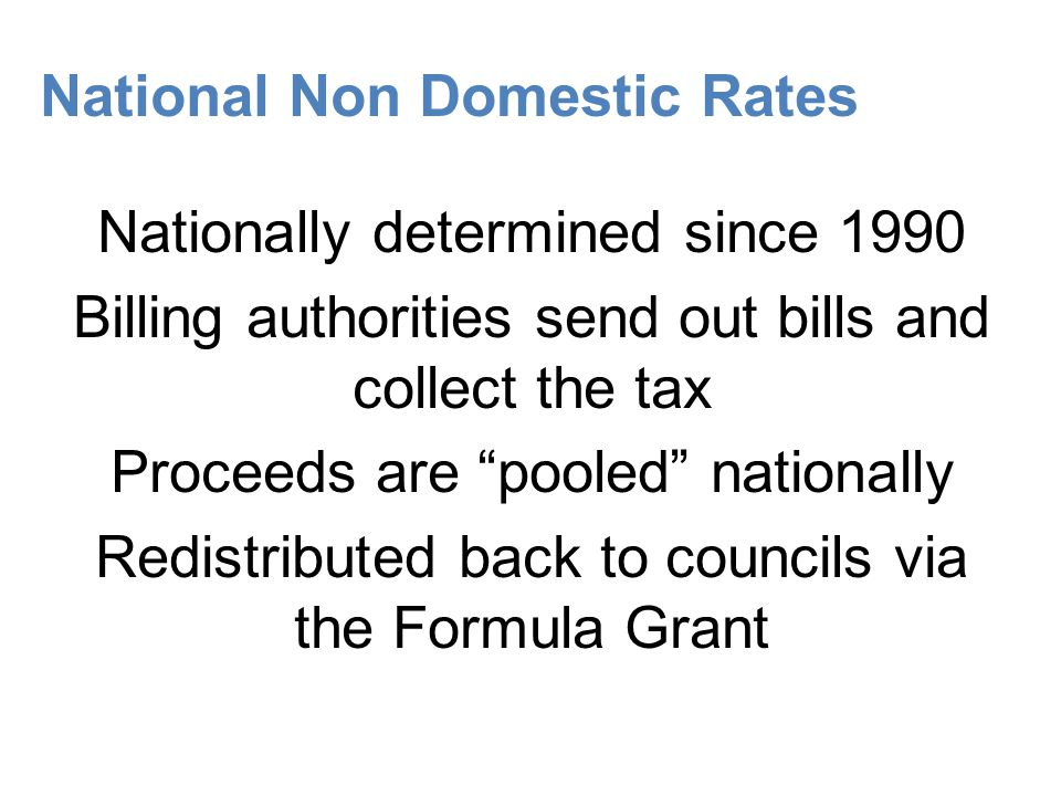 National Non Domestic Rates