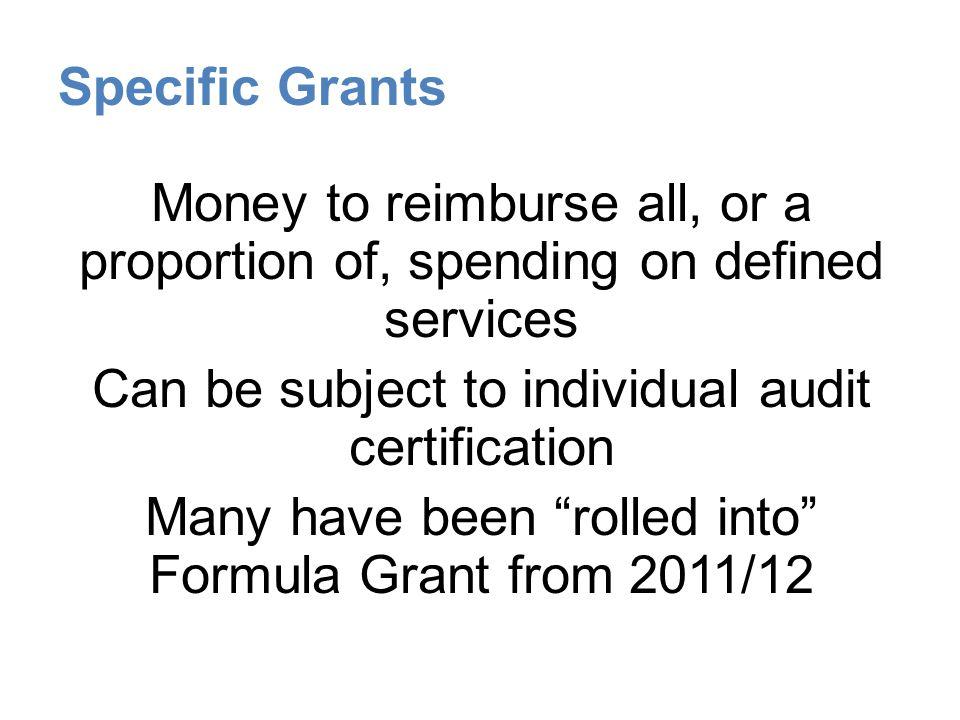 Specific Grants