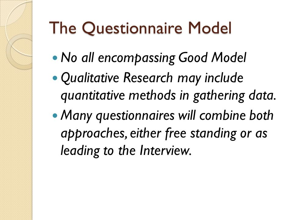 The Questionnaire Model