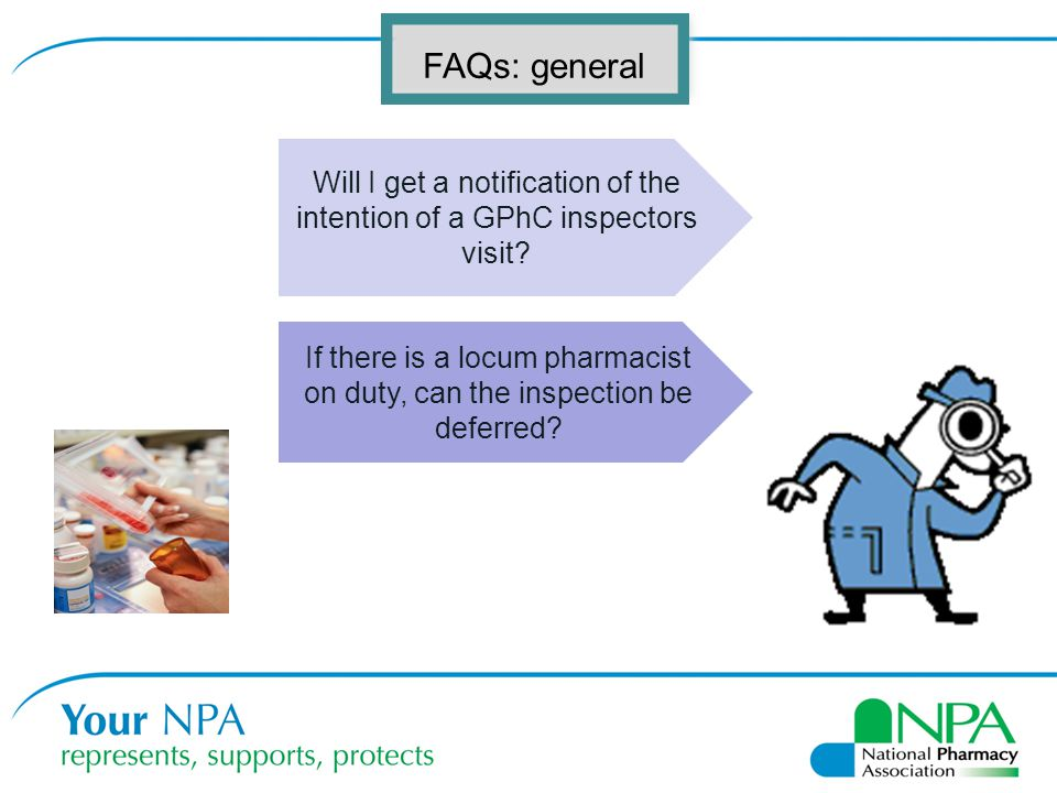 Will I get a notification of the intention of a GPhC inspectors visit