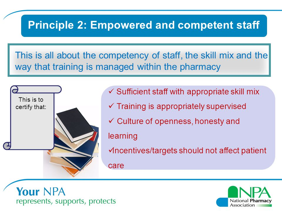 Principle 2: Empowered and competent staff