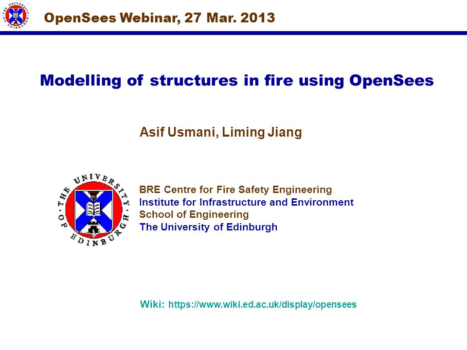Modelling of structures in fire using OpenSees