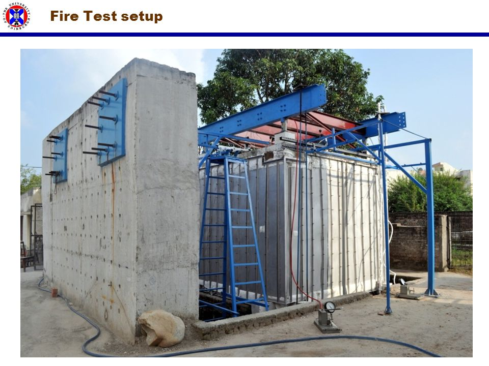 Fire Test setup