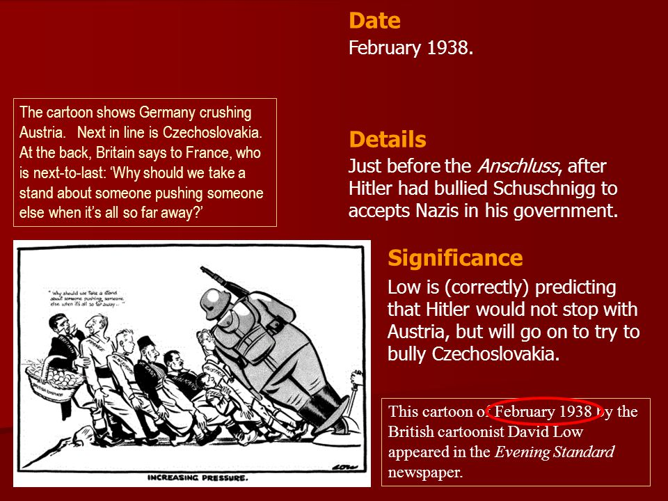 Date Details Significance February 1938.