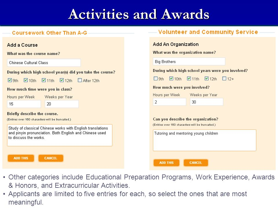 Activities and Awards Activities and Awards.