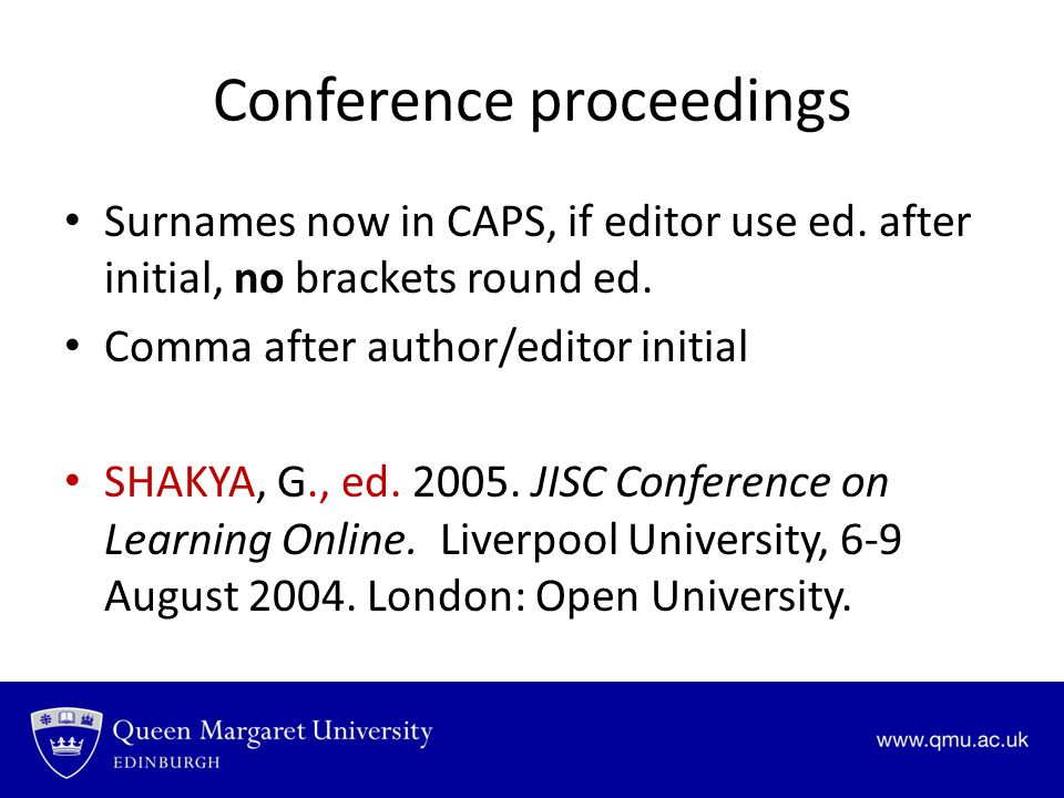 Conference proceedings