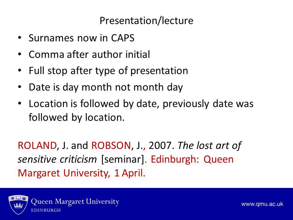 Presentation/lecture