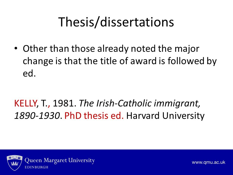 Thesis/dissertations