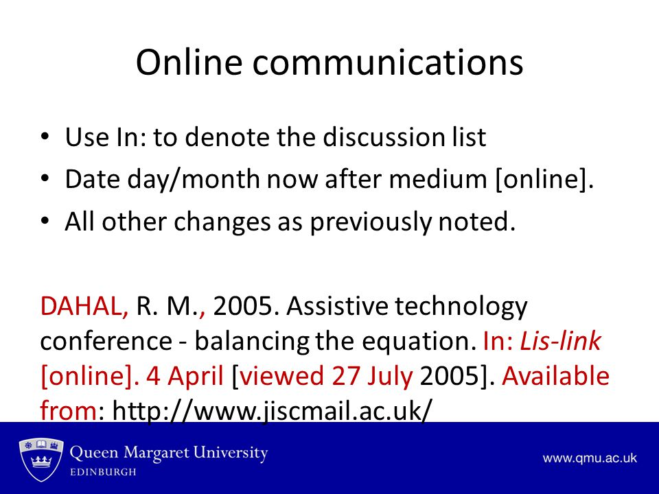 Online communications