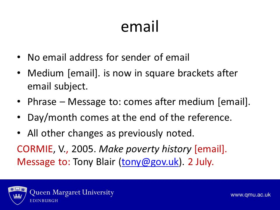 email No email address for sender of email