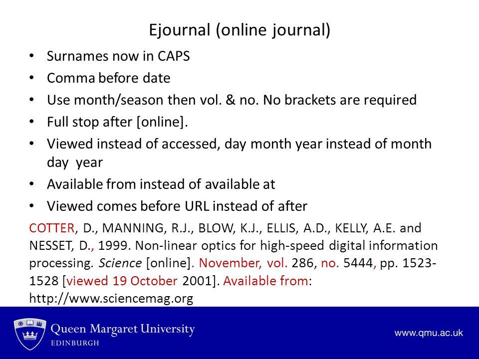 Ejournal (online journal)