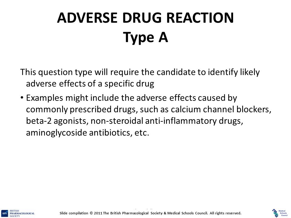 ADVERSE DRUG REACTION Type A