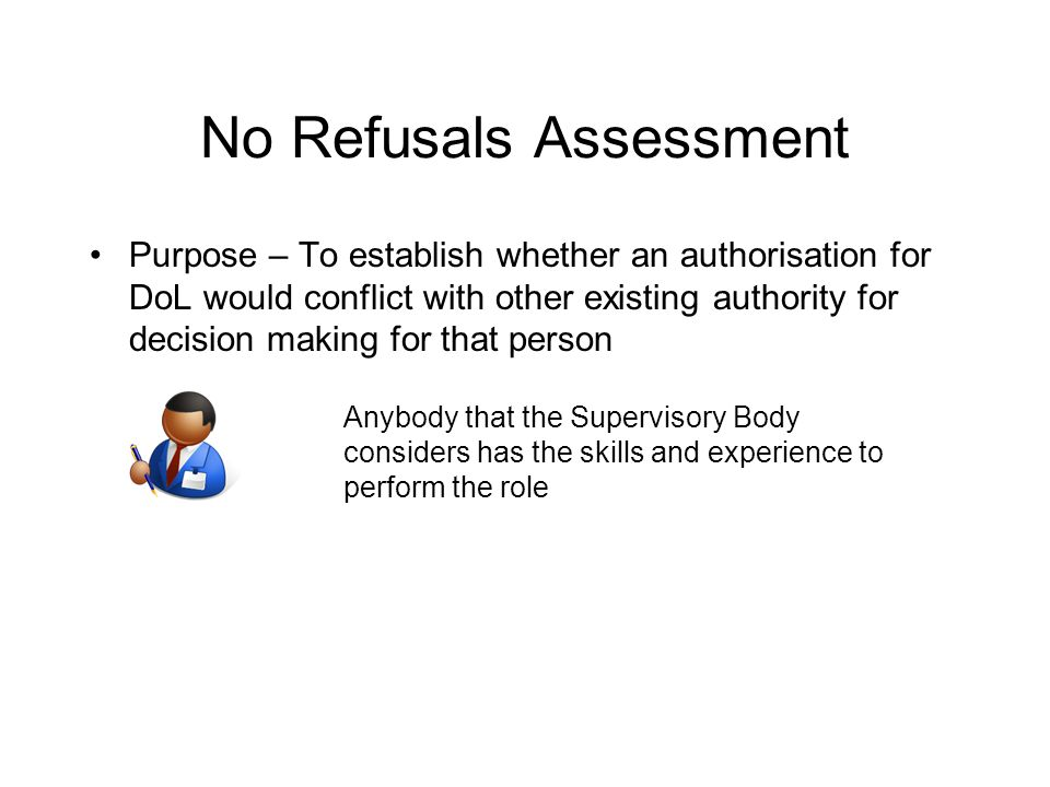 No Refusals Assessment