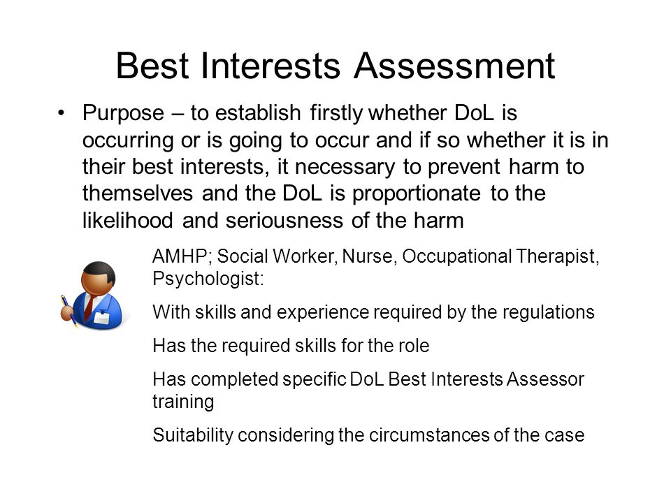 Best Interests Assessment