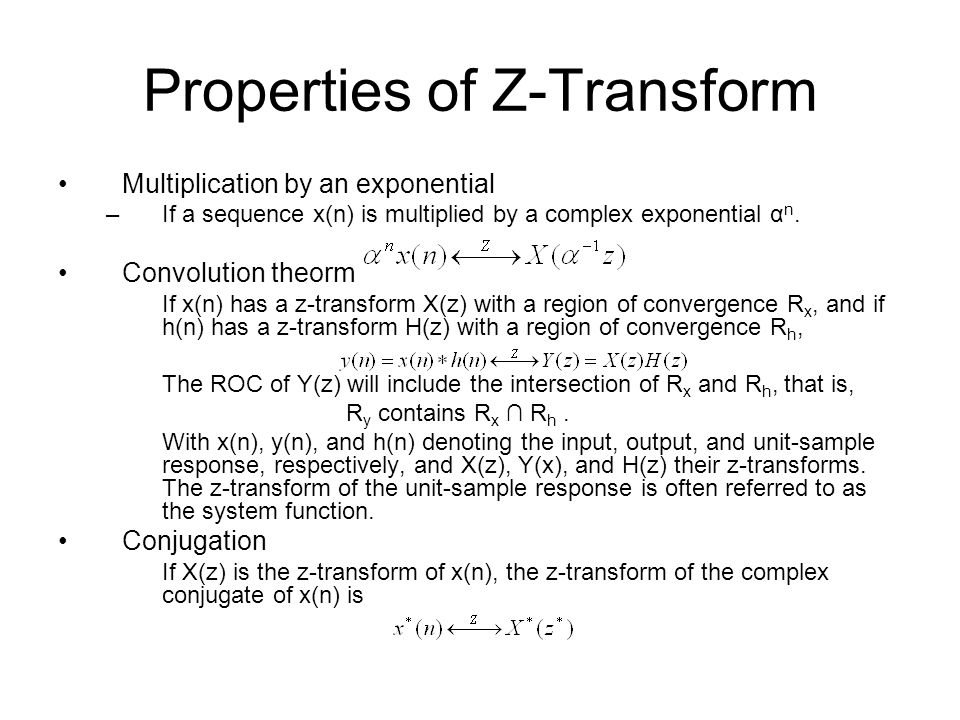 Properties of Z-Transform