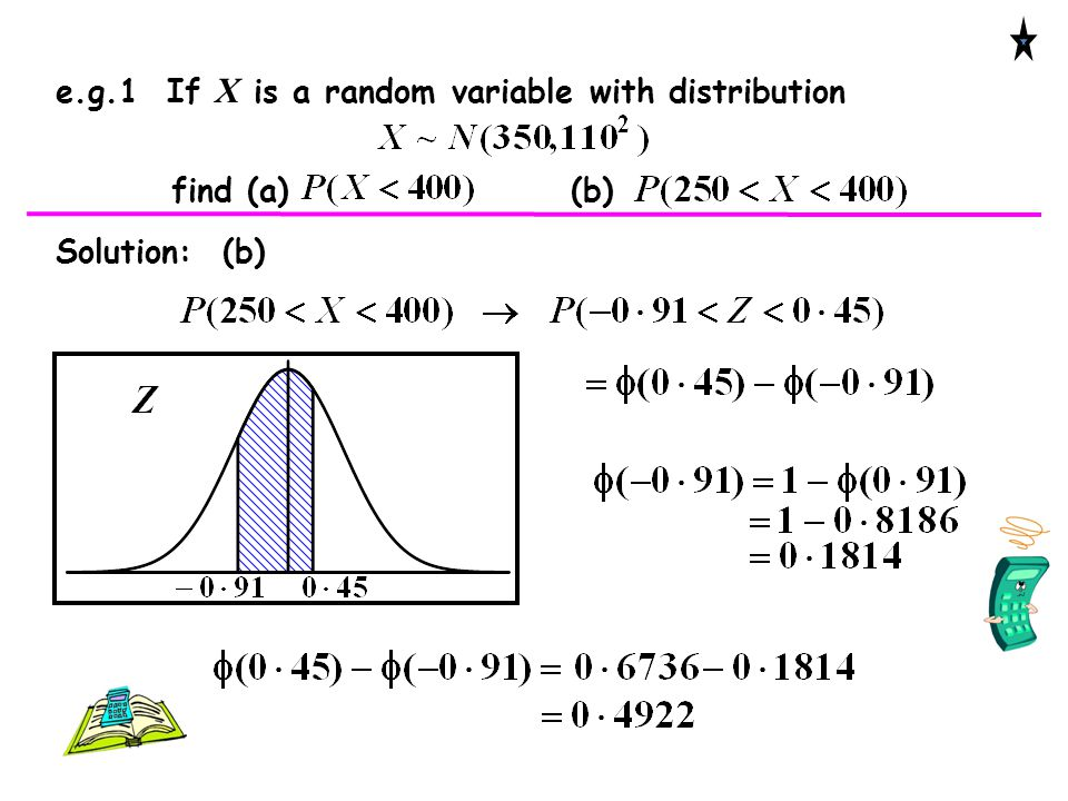 e.g.1 If X is a random variable with distribution